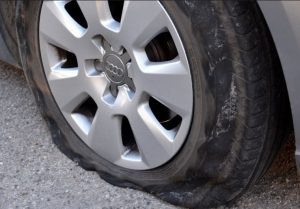 Tire Blowout - Roadside Assistance